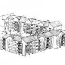 Insediamento residenziale Rn1 - prospettiva di progetto