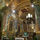Restauro chiesa S. Teresa a Torino - presbiterio prima del restauro